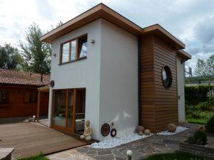 Family wood house