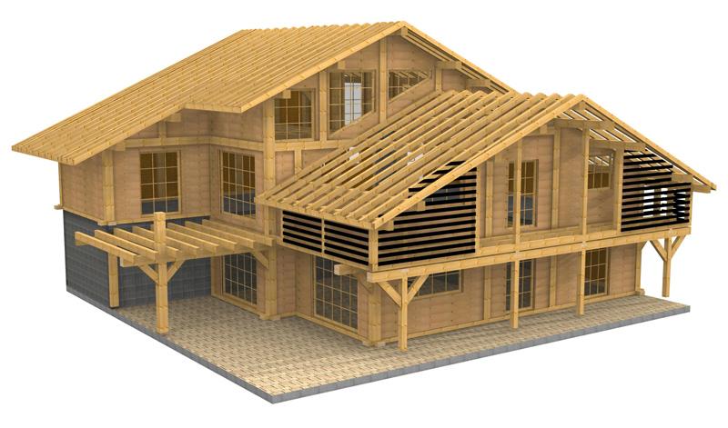 tehnic details wood house construction